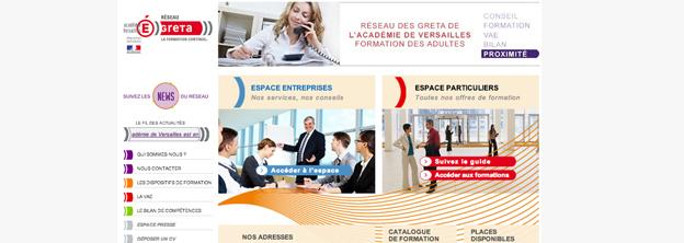 Next Level Com met en ligne la nouvelle version du site des Greta de l'Académie de Versailles.