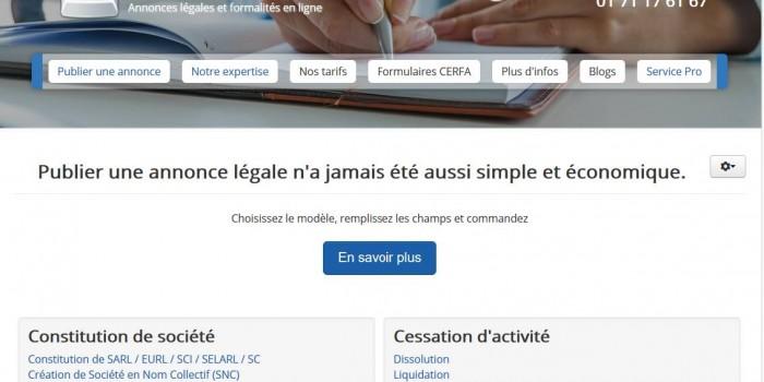 Next Level Com publie le nouveau Site Publication Annonce Legale