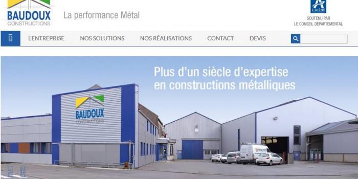 Next Level Com reconstruit le site de Baudoux Constructions Métalliques
